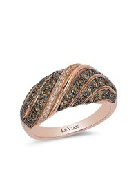 Le Vian | Pink 14kt Rose Gold And Diamond Ring | Lyst