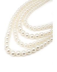 Forever 21 | Natural Layered Faux Pearl Necklace | Lyst