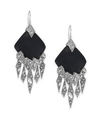 Alexis Bittar | Metallic Lucite Glacial Crystal Chandelier Earrings/black | Lyst