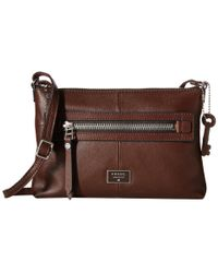 Fossil - Brown Dawson Crossbody - Lyst