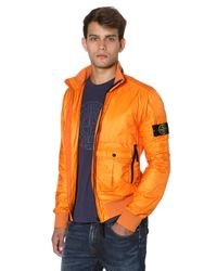 Stone Island | Orange Micro Ripstop Tyvek Shield Casual Jacket for Men | Lyst