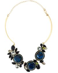 Marni | Blue Embellished Necklace | Lyst