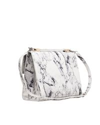 Balenciaga Le Dix Cartable Flap Satchel Bag Marble