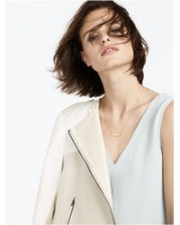 BaubleBar - Metallic Diamond Initial Necklace - Lyst