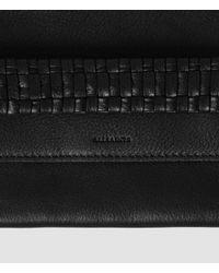AllSaints - Black Club Flat Envelope Large Purse - Lyst