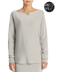 424 Fifth | Gray Boatneck Pullover Sweater | Lyst