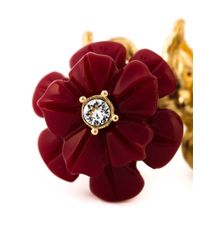 Alexander McQueen | Red Floral Cocktail Ring | Lyst