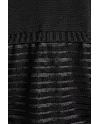 Anthropologie - Ryley Sheer Stripe Jumper, Black - Lyst