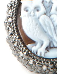 Amedeo | Brown Three Owls Diamond Ring | Lyst