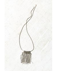 Urban Outfitters | Metallic Harley Fringe Pendant Necklace | Lyst