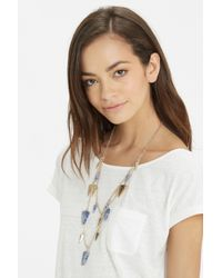 Oasis - Blue Shard Multi Row Necklace - Lyst
