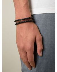 Tod's | Brown Braided Bracelet | Lyst