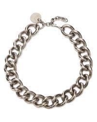 Alexander McQueen - Metallic Chain Choker - Lyst