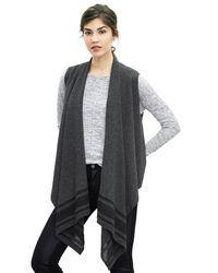 Banana Republic | Gray Drapey Open Sweater Vest | Lyst