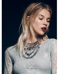 Free People | Metallic Noir Womens Atlantis Statement Collar | Lyst