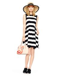 kate spade new york - Black Yarn Dyed Stripe Dress - Lyst