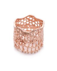 Aurelie Bidermann | Pink Vintage Lace Ring | Lyst
