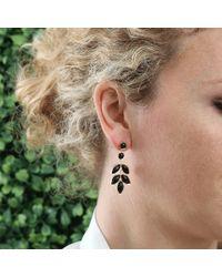 Irene Neuwirth - Metallic Marquis Black Onyx Earrings - Lyst