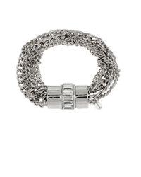 Kenneth Cole - Metallic Baguette Stone Multi-chain Bracelet - Lyst