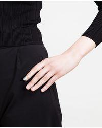Bijules | Metallic Silver-tone Nail Ring | Lyst