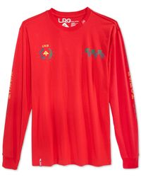 LRG | Red Uprisers Long-sleeve T-shirt for Men | Lyst