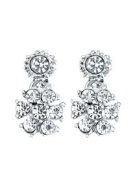 Brooks Brothers - Metallic Crystal Drop Earrings - Lyst