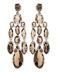 Alexis Bittar Fine | Brown Smoky Quartz & Diamond Chandelier Earrings | Lyst