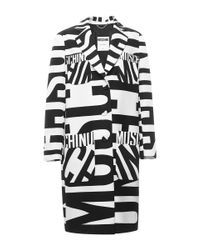 Moschino   White Print Long Jacket   Lyst