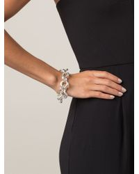 Vaubel - Metallic Oval Ring Bracelet - Lyst