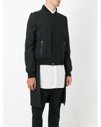 Unconditional - Black Long Tailcoat Bomber Jacket for Men - Lyst