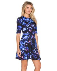 McQ - Multicolor Long Sleeve Flirty Dress - Lyst