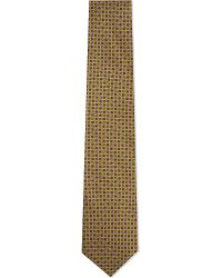 Corneliani | Metallic Floral Geometric Print Tie for Men | Lyst