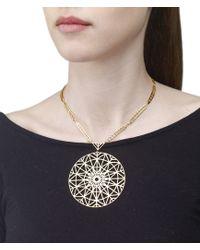 Arme De L'Amour | Metallic Large Pattern Necklace | Lyst