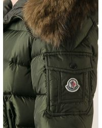 6ab75444db3b Moncler Byron Fur Hood Padded Jacket in Green for Men - Lyst