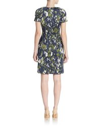 Jason Wu - Blue Printed Cotton & Silk Dress - Lyst