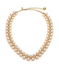 Kate Spade | Metallic Twinkling Fete Crystal & Faux Pearl Collar Necklace | Lyst