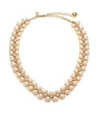 kate spade new york | Metallic Twinkling Fete Crystal & Faux Pearl Collar Necklace | Lyst
