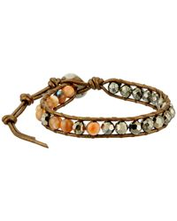 Chan Luu | Brown 6' Pyrite Mix Single Bracelet | Lyst
