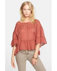 Free People | Red 'beautiful Dreamer' Top | Lyst