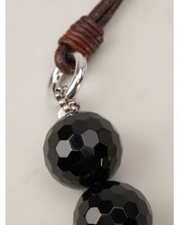 Brunello Cucinelli | Brown Agate Short Necklace | Lyst