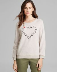 Marc By Marc Jacobs | Natural Sweatshirt - I Heart Mj | Lyst