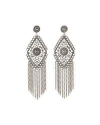 R.j. Graziano - Metallic Antiqued Fringe Chandelier Earrings - Lyst