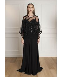 Elie Saab - Black Floral-lace Blouse - For Women - Lyst