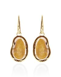 Kimberly Mcdonald - Pink One Of A Kind Neutral Geode and Diamond Gold Hook Earrings - Lyst