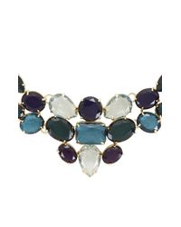 BCBGMAXAZRIA | Blue Stone Statement Necklace | Lyst