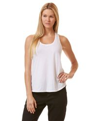 C&C California | White Double Banded Tank Top | Lyst