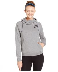 Nike | Gray Rally Funnel-neck Pullover Hoodie | Lyst