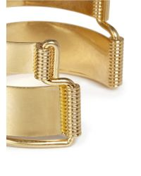 Alexander McQueen | Metallic Double Band Cuff | Lyst