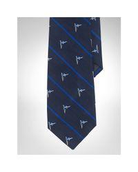 Ralph Lauren - Blue Flag Striped Silk Repp Tie - Lyst