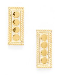 Anna Beck | Metallic 'gili' Small Bar Stud Earrings | Lyst